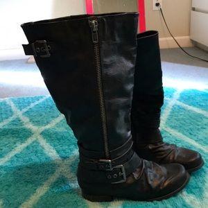 Carlos Santana wide calf boots